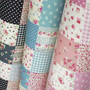 Patchwork Printed Fabric 100% Cotton Fabric ~ quilting, craft, clothing