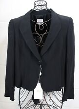 $975 ARMANI COLLEZIONI Chic Black Classic Work Career Blazer Jacket 12 Italy NWT