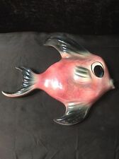Vintage Xl Ceramicaraft Ceramic 10 3/4 In. Fish Planter Hanging Wall Plaque