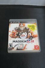 Madden Nfl 12 PS3 Video Game Sony Playstation Good Condition with case