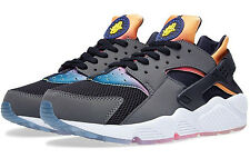 NIKE Air Huarache Run SD sz 8 Black Violet Yellow Pink Gradient Rainbow Icy Max