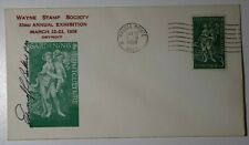 Wayne Stamp Society Detroit Mi 1958 Horticulture Philatelic Expo Pm signed 1100