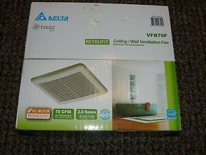 New Delta Breez Slim Retrofit Bathroom Quiet Ventilation Fan VFB70F 70CFM 💎