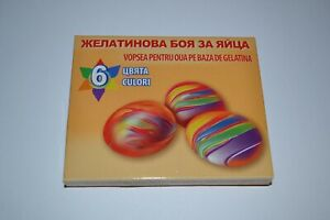 6 Colours Gelatine Paint Dye Painting Decorate Easter Eggs Fancy Egg Craft Art