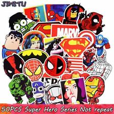 50pcs Mixed Super Hero Stickers No Repeat Kids Toy Sticker for Diy Luggage