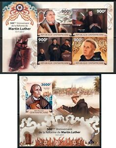Martin Luther Reformation Protestant Central Africa MNH stamp set IMPERFORATED