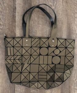 "Issey Miyake Shoulder Hand Bag BAO BAO TOTE HANDBAG PURSE Geometric 17"""