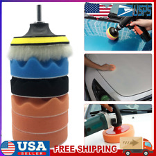 New listing 7pcs 4 inch Polishing Buffing Pads with M10 Drill Adapter for Car Polisher