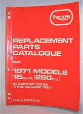 TRIUMPH REPLACEMENT PARTS CATALOG 1971 250 TRAIL BLAZER T25 T SS FACTORY MANUAL
