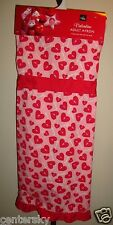 New Home Wear Cotton Blend Valentine Adult Apron Pink w/ Red Hearts/Keys/Love Os