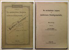 Bücher Die wirtschaftlichen Aufgaben der modernen Stadtgemeinde 1898 Vortrag sf