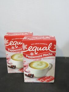 Equal PEPPERMINT MOCHA Zero Calorie Sweetener 80 Packets BB 09/30/21 Lot of 2