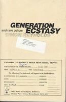 GENERATION ECSTASY Simon Reynolds Uncorrected Advance Proof 1st 1989