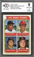 Albury/Frailing/Kobel/ Frank Tanana Rookie Card 1974 Topps #605 BGS BCCG 9