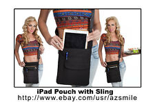 "10"" Tablet / iPad - Quality Holster Pouch Apron w/ Adj Shoulder Sling / USA"