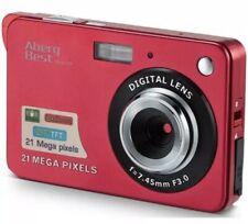 "A11# Aberg Best 21 Mega Pixels 2.7"" LCD Rechargeable HD Digital Camera Red"