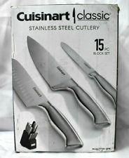 Cuisinart Classic Stainless Steel 15-pc. Knife Block Set  (je4)