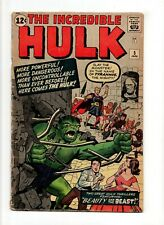 Incredible Hulk #5 VINTAGE Marvel Comic KEY Rick Jones 1st Tyrannus Silver 12c