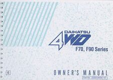 1996 DAIHATSU 4WD F70 F90 ROCKY BETRIEBSANLEITUNG OWNERS MANUAL HANDBOOK ENGLISH
