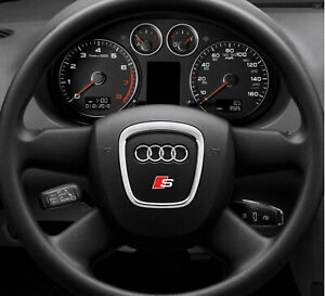 2x Audi steering wheel s-line sticker decal logo fits A6 A7 A8 A3 A4 Q7 Q5 RS