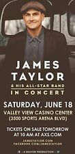 "JAMES TAYLOR & HIS ALL STAR BAND ""IN CONCERT"" 2016 SAN DIEGO TOUR POSTER"