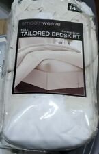 Smoothweave 14 Inch Drop Tailored Full Bed Skirt in Ivory New In Package