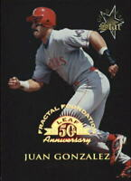 1998 Leaf Fractal Foundations #173 Juan Gonzalez GLS /3999 - NM-MT