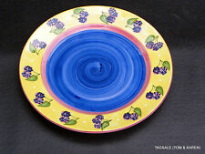 """ESSEX COLLECTION BOIS DARC TUTTI FRUITI 10 1/2""""BERRY DINNER PLATE OUTLAW KURPIS"""