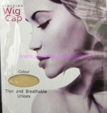 BEIGE HAIR NET STOCKING WIG CAP 2PCS /POLYBAG ONE SIZE FIT ALL