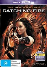 The Hunger Games - Catching Fire (DVD, 2014) Movie, Very Good, UV Code Included