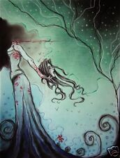 Gothic headless female spectre comic FANTASY ART ebsq