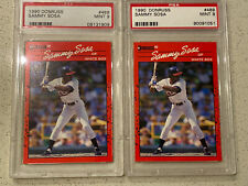 1990 Donruss #489 Sammy Sosa RC Rookie Card PSA 9 MINT LOT OF 2