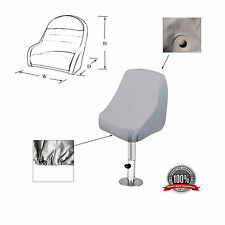 "Waterproof Pontoon Captain Seat Chair Cover 24""(D) x 22""(W) x 25"" (H)"