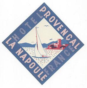 Hotel France LA NAPOULE France - vintage luggage label