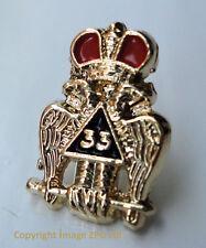 ZP391 Freemason Scottish Rite 33rd Degree Double Head Eagle Lapel Pin Badge