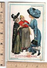 SUFFRAGETTE SERIES No. 2 ELECTIONEERING Suffrage Post Card postmarked 1913