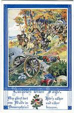 Kunst AK Lützow's wilde Jagd Bund der Deutschen in Böhmen Anton Marussig A_246