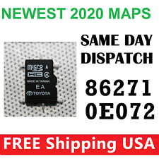 TOYOTA Navigation Micro SD Card Map Data LATEST UPDATE OEM 86271 0e072