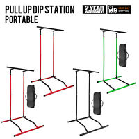 Portable Multi Pull Up Dip Station Fitness Power Tower Workout Carry Bag