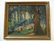 ANTIQUE NATIVE AMERICAN INDIAN ADOBE PAINTING MYSTERY REGIONALISM LANDSCAPE TAOS