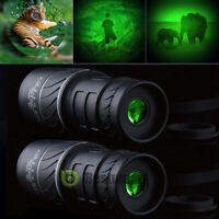 2x Day Night Vision 40X60 HD Optical Monocular Hunting Camping Hiking Telescope