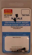 Micro-Trains N (1016-1) Universal Body Mount Medium Couplers Mtl00102006