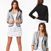S-6XL Women Slim Fit Casual Suit Blazer Coat Long Sleeve Two Button Jacket Tops