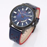 CURREN Fashion Men's Quartz Wrist Watches Leather Strap Analog Casual Watch Gift