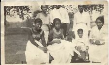 Antique African American Family Children Old Photo Black Americana