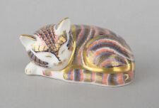Royal Crown Derby Sleeping Kitten Paperweight 1991-2008 * GOLD STOPPER *
