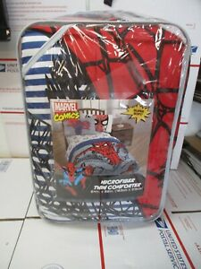 MARVEL SPIDERMAN MARVEL COMICS TWIN COMFORTER NEW IN PACKAGE FAST SHIPPING