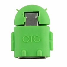 Micro USB To USB 2.0 Host OTG Adapter Converter For Android Device Robot Green