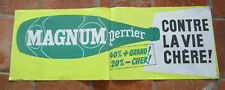 Affiche ancienne originale PERRIER Magnum 26 x 71 cm