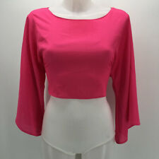 Naven Pink Long Sleeve Crop Top Size Small